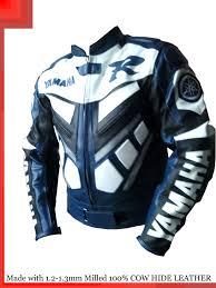 blue motorcycle jacket yamaha r1 blue racing leather motorcycle jacket all sizes