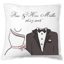 hochzeitsgeschenk f r die braut kissen braut bräutigam mit personalisierung