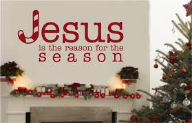jesus is the reason for the season religious decor vinyl