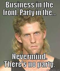 Business Meme - business in the front party in the nevermind there s no party funny