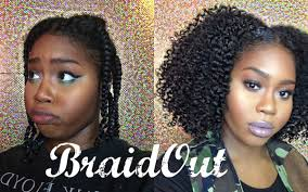 braid out natural hair natural hair braid out on stretched hair video black hair