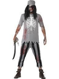 mens zombie pirate costume ghost pirates mens halloween