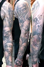 And Demons Sleeve Tattoos Demons And Sleeve By Paul Booth Tattoonow