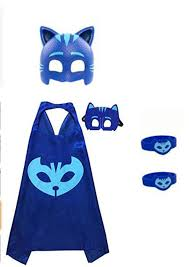 3 packs pjmasks inspired costume cape mask 6pcs party