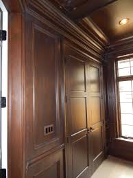 trim stairs doors crown wainscot cornice built ins library