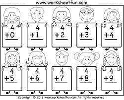 Fact Family Worksheets Free Printable Math Worksheets For Kindergarten Addition 1 Png
