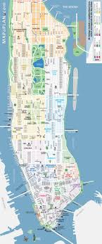 manhattan on map manhattan landmarks map world maps