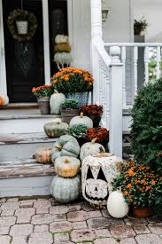 rustic fall farmhouse steps porch stairs farmhouse style and