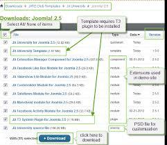 ja university joomla template documentation joomla templates