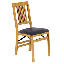 Dining Folding Chairs Mission Folding Chair Set Of 2 Oak 35 5 H X 16 5