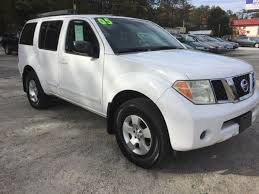 nissan suv white white nissan pathfinder in georgia for sale used cars on