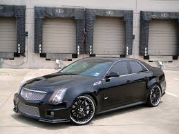 lowered cadillac cts 21 modulare m15 satin black 2010 cadillac cts v dfw auto