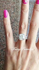 cushion diamond ring 3 carat cushion halo engagement ring cushion cut bridal set