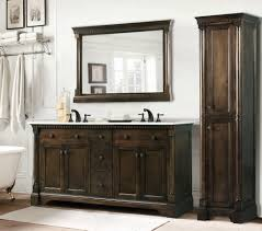 bathroom vanity with linen tower legion 60 inch antique single sink bathroom vanity antique coffee