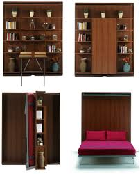 Dining Table Bed Bookcase Bed And Dining Table In One Space Saving Unit Living