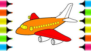 airplanes coloring pages how to draw airplanes for kids