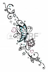 abstract tribal with butterfly ideas