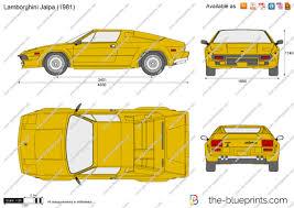 lamborghini murcielago dimensions the blueprints com vector drawing lamborghini jalpa