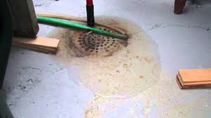 floor drain backing up during a minneapolis home inspection youtube
