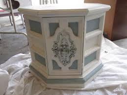 Refurbished End Tables by Octagon End Table Painted And Distressed With As Old White Duck