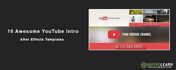 10 awesome after effects templates for youtube intro video