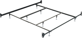 Bed Frame Without Wheels Deluxe King Metal Bedframe With Castor Wheels The Brick