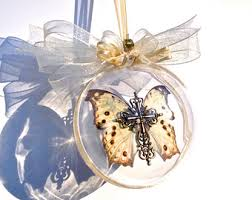 real monarch butterfly ornament butterfly memorial ornament