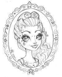 pinup on skull sketch photos pictures and