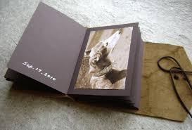 rustic leather photo album handmade rustic photo album grey studio