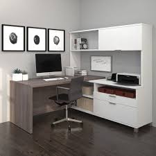 White L Shaped Desk With Hutch Best 25 Small L Shaped Desk Ideas On Pinterest Office Room