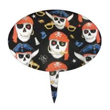 skull cake topper pirate skulls cake toppers zazzle
