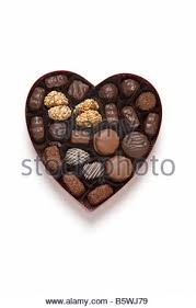 chocolate heart candy s day gift of chocolate candy hearts in a card broad box