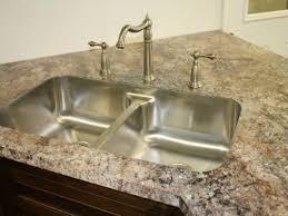 granite countertop kitchen sink drain board water ridge faucet