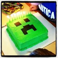 minecraft birthday cake best images collections hd for gadget