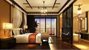 master bedroom with bathroom interior design