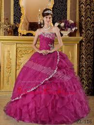fuchsia quinceanera dresses fuchsia gown strapless floor length organza appliques bule