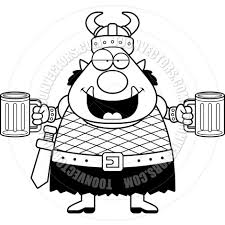 beer cartoon black and white cartoon orc man drunk black and white line art by cory thoman