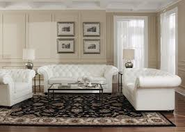 White Leather Chesterfield Sofa White Leather Collection Split Loveseat