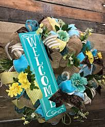 decorative wreaths for the home spring wreath summer wreath welcome wreath everyday wreath