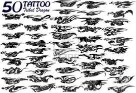 small tribal dragon tattoo 50 designs