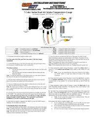 glowshift 7 color series dual air intake temperature gauge user