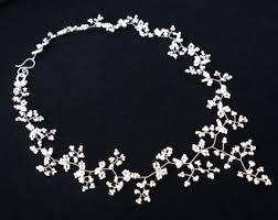 silver bridal necklace images Bridal necklace etsy jpg