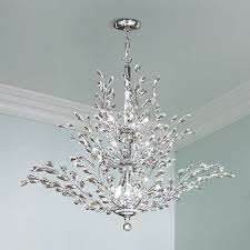 Silver Chandelier R Moder Florale Collection Silver 41 Wide Chandelier