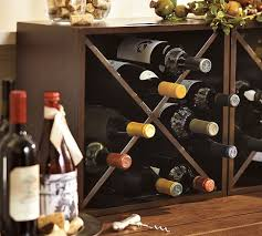 Pottery Barn Cubes Amazing Grays Diy Over Fridge Wine Rack