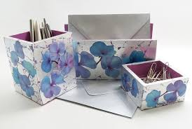 Floral Desk Accessories Handmade Desk Set Stationery Set Desk Accessory Set Desk