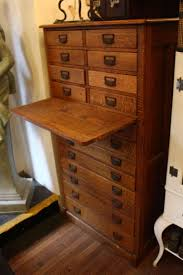 quarter sawn oak flat file cabinet at 1stdibs