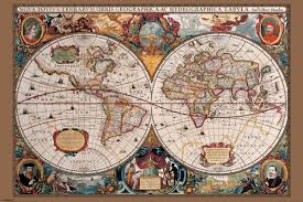 World Map Posters by Maps Wall Art World Maps Vintage Maps Artistic Maps Country