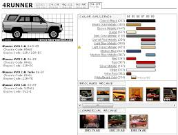 toyota 4runner codes toyota 4runner touchup paint codes image galleries brochure and