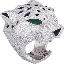 cartier diamond rings images Crh4179600 panth re de cartier ring white gold emeralds onyx png