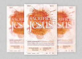 easter plays for church sacrifice of jesus church flyer template inspiks market
